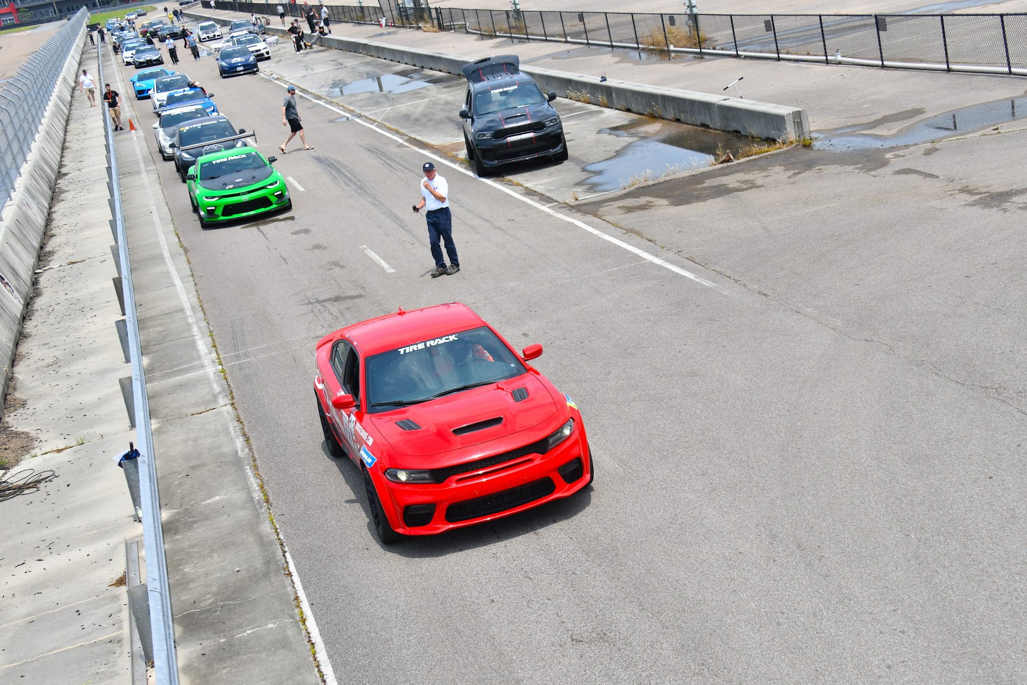Charger SRT Hellcat Redeye racing in One Lap of America