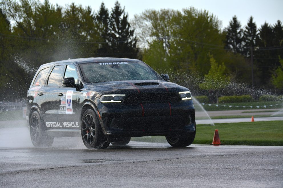 Durango SRT Hellcat racing in One Lap of America 2021