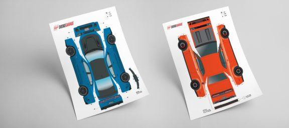 Paper Car SRT Hellcats