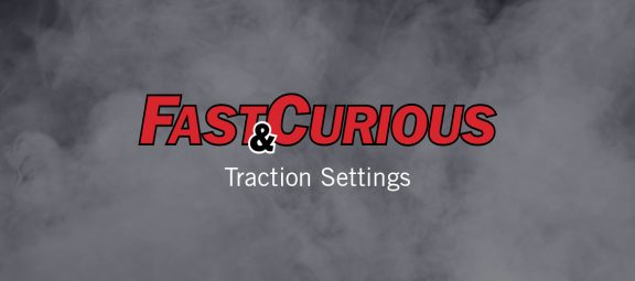 Fast & Curious title over smoke