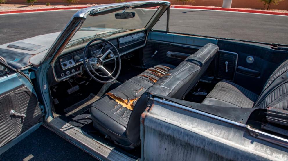 1967 Plymouth Satellite Convertible interior