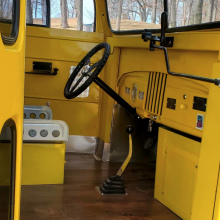 1948 Dodge Power Wagon School Bus interior