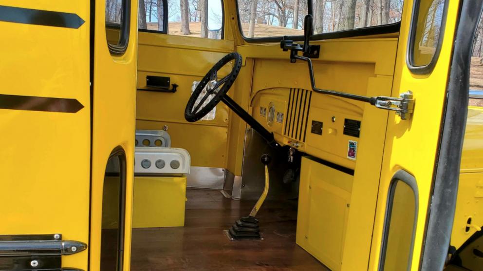 1948 Dodge Power Wagon School Bus interior