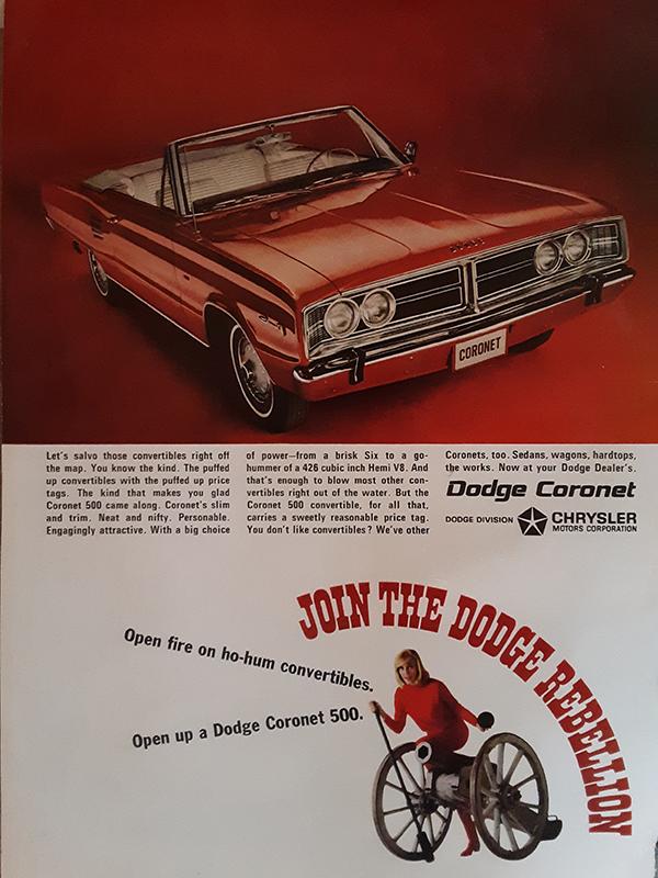 1966 Dodge Coronet 500 ad