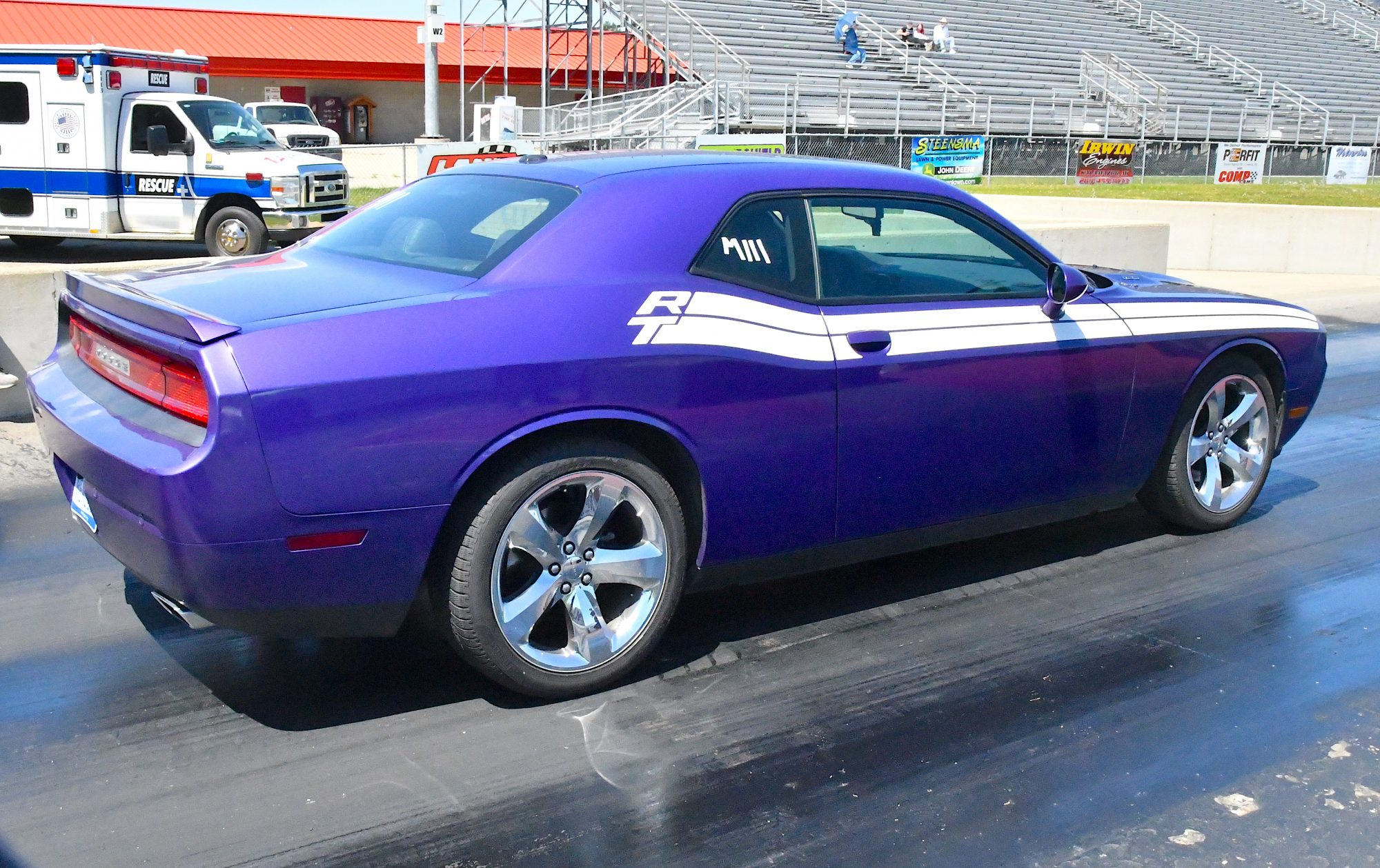 Challenger getting ready to drag race