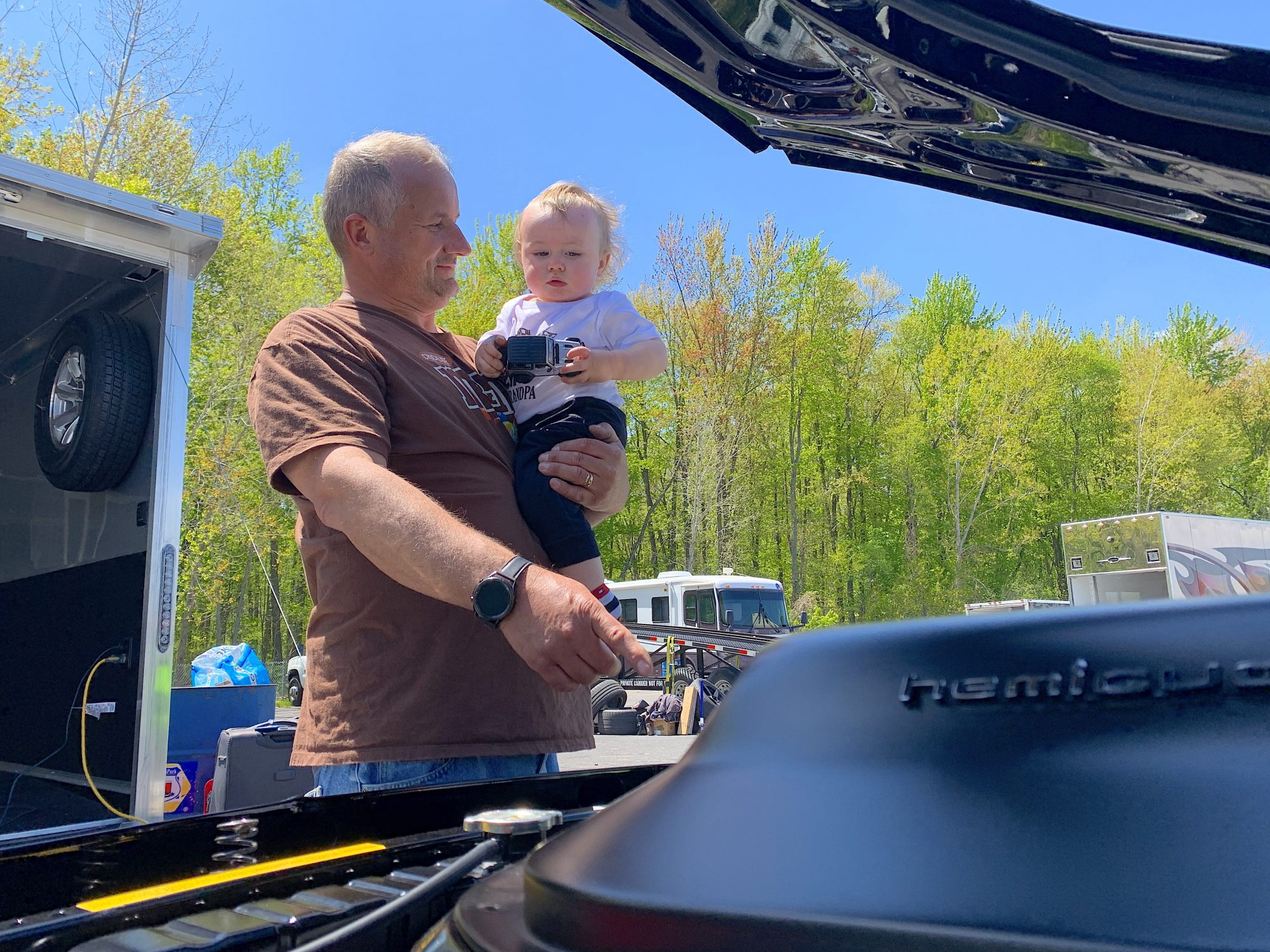 Dudek and his grandson