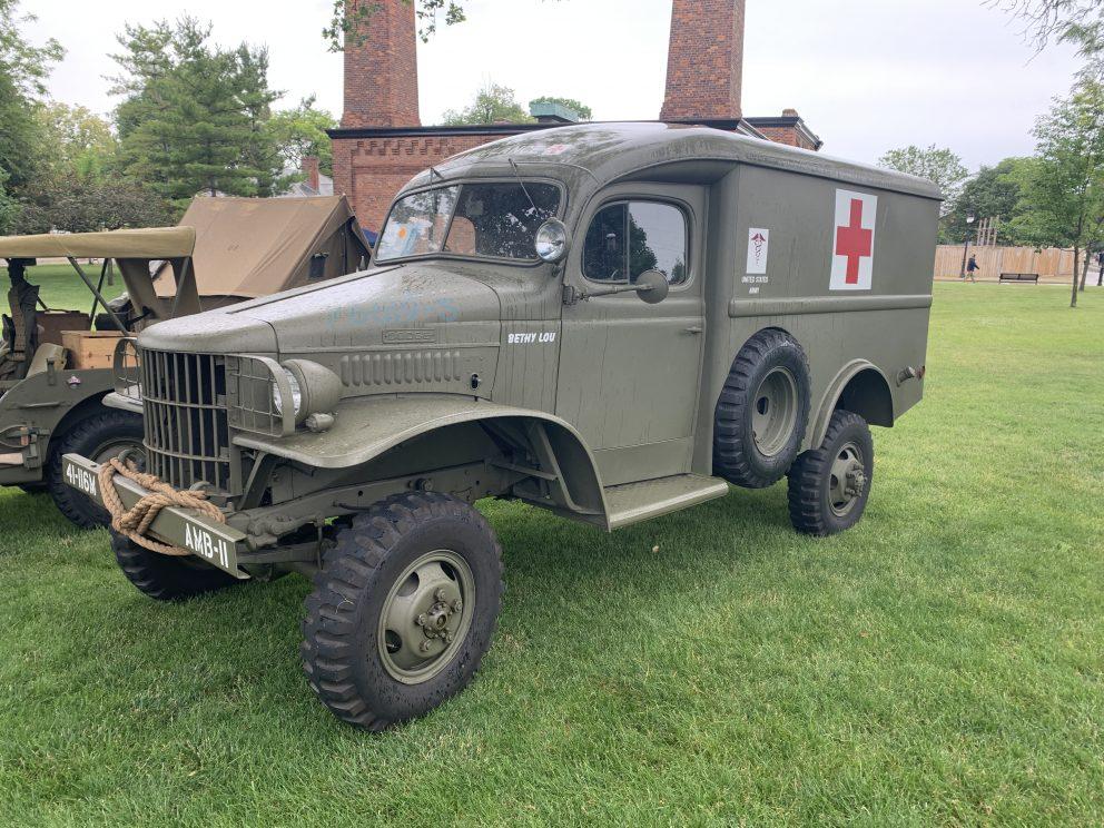 Vintage Dodge military vehicle