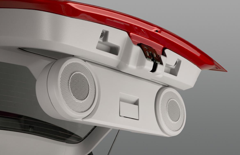 Trunk speakers in a Dodge Caliber