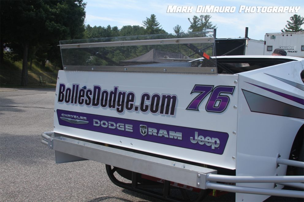 Back end of a race vehicle