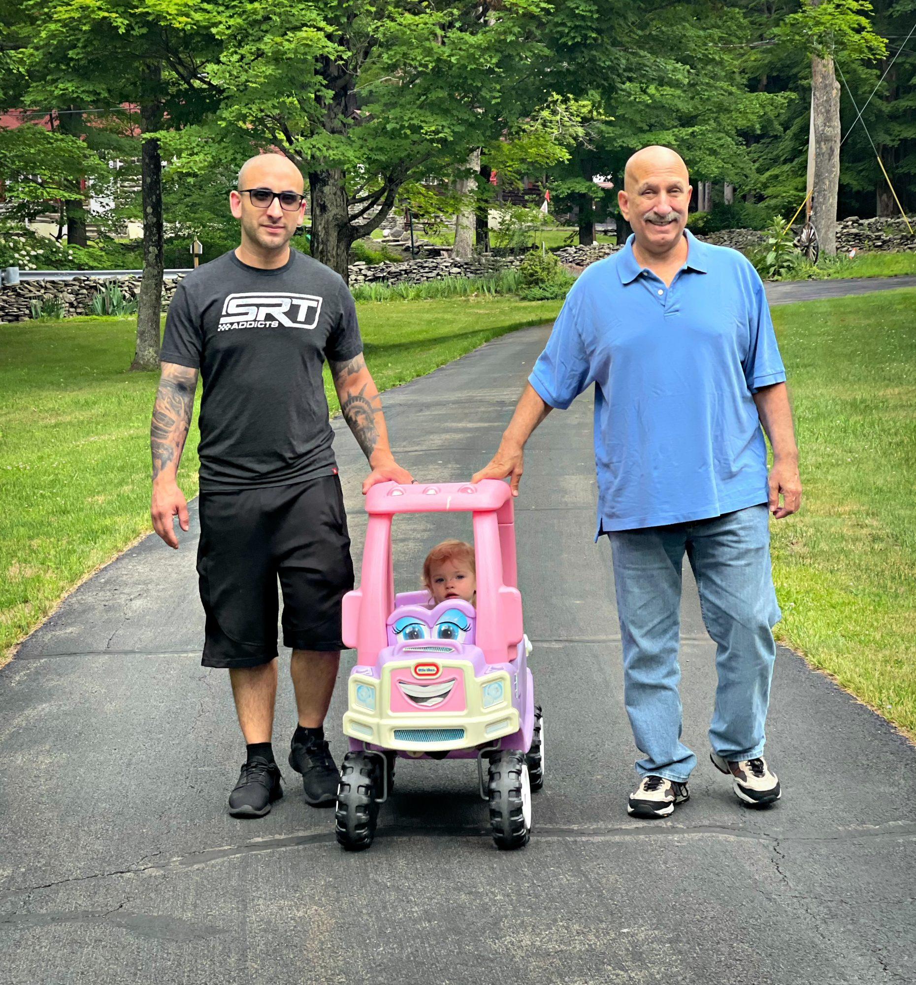 Matt his dad and his daughter