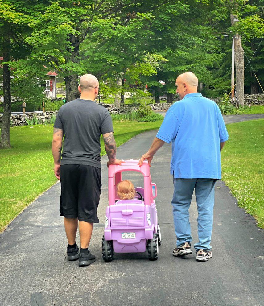 Matt, his dad and his daughter