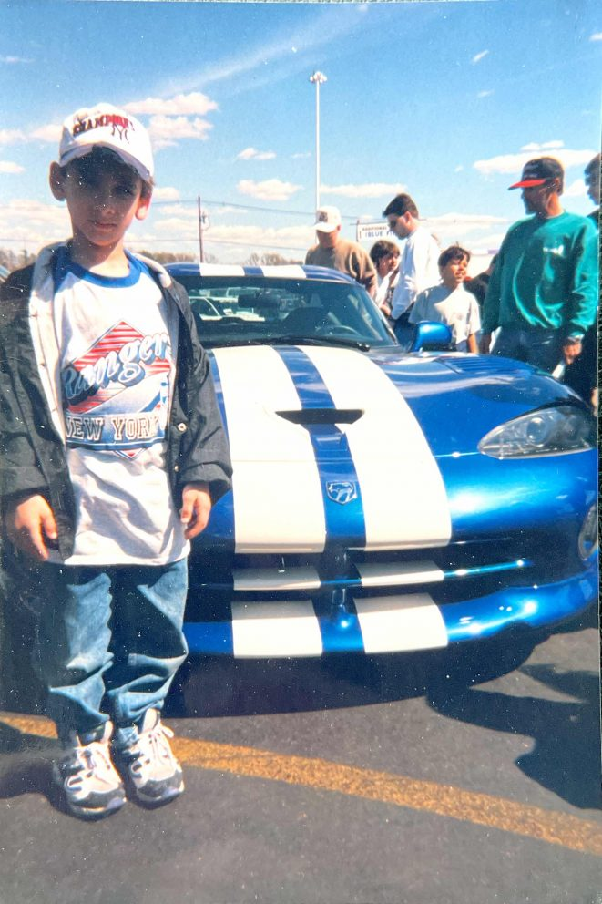 Matt standing in front of a Dodge Viper