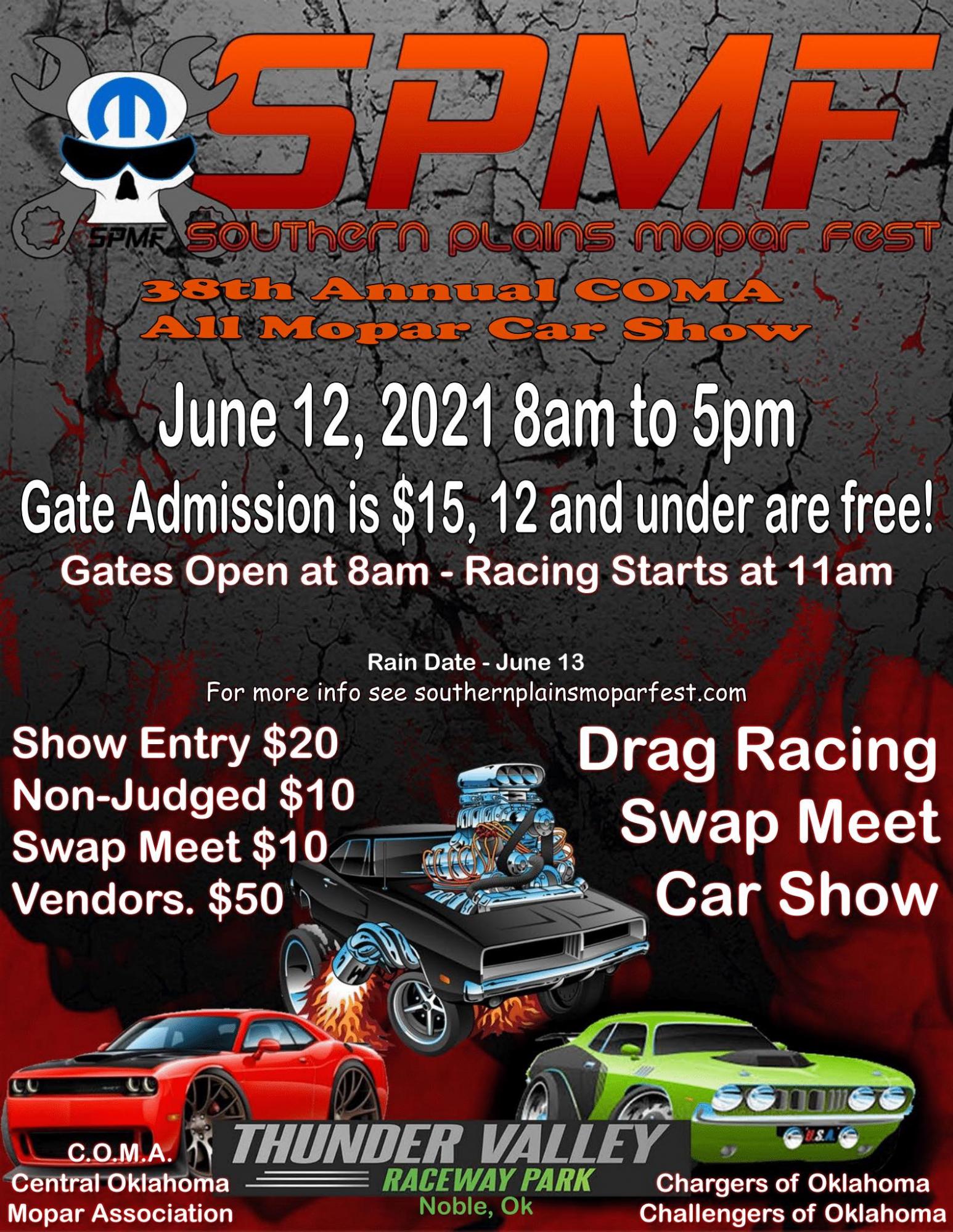 Southern Plains Mopar Fest event poster
