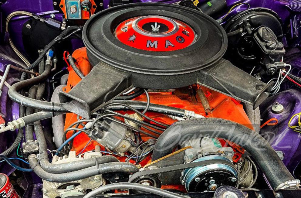1974 Plymouth 'Cuda Custom Coupe engine