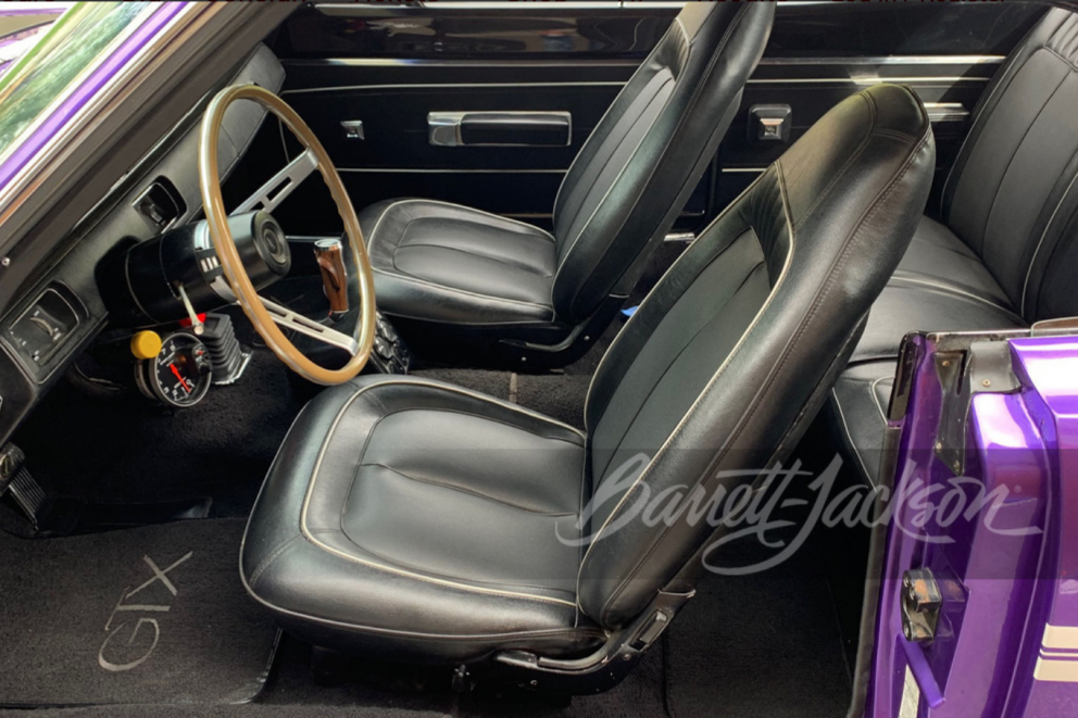 1970 Plymouth GTX HEMI Custom Coupe interior