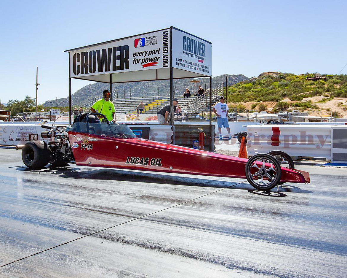 Dragster on a drag strip