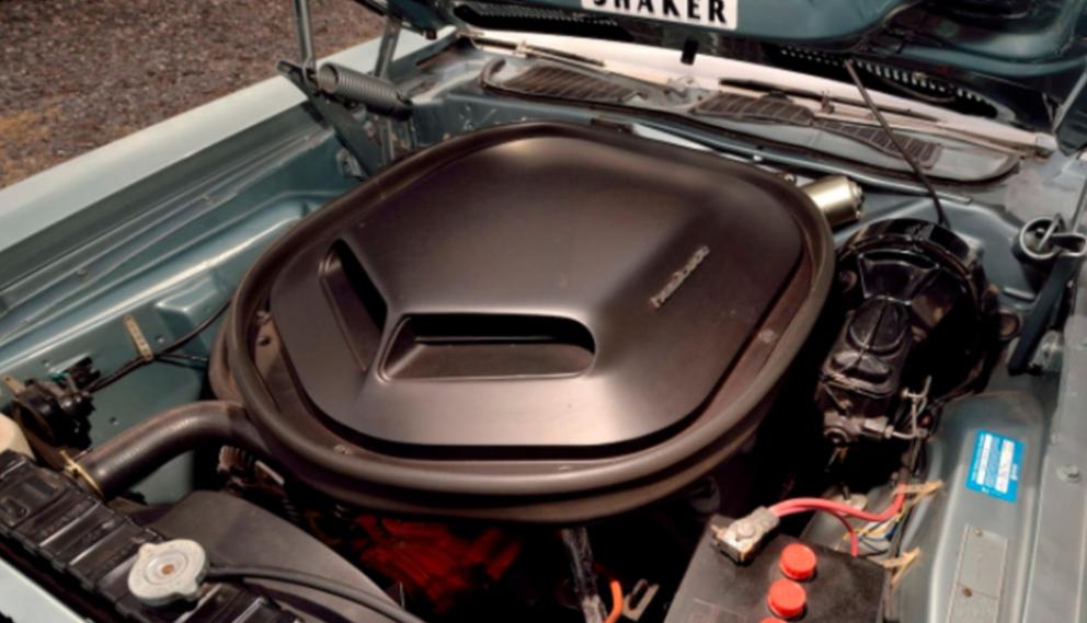 1971 Plymouth HEMI 'Cuda Convertible engine