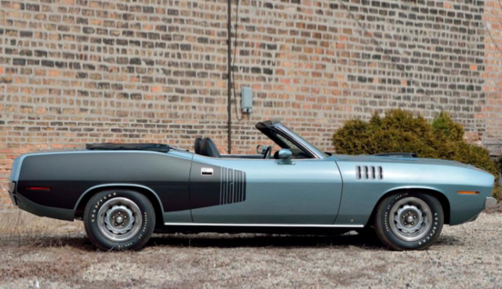 1971 Plymouth HEMI 'Cuda Convertible side view