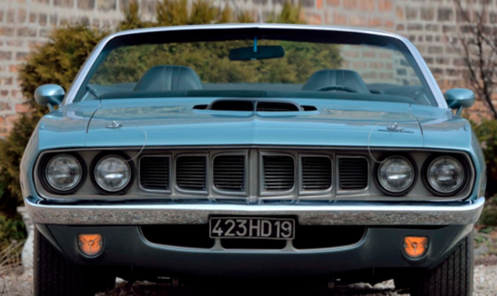1971 Plymouth HEMI 'Cuda Convertible front end