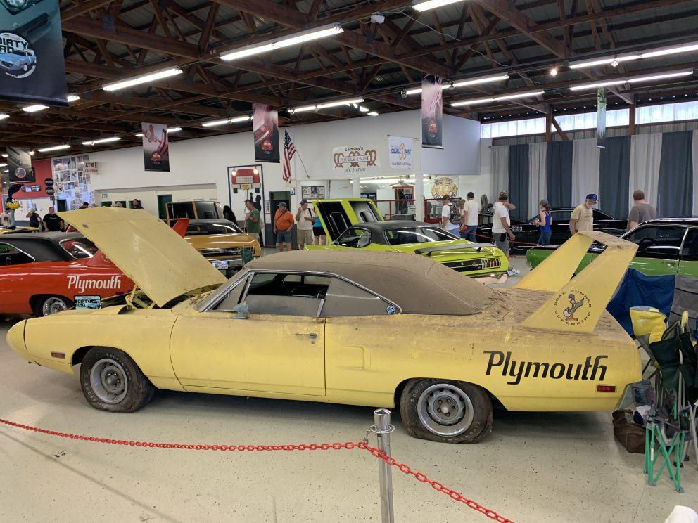 Plymouth vehicle on display