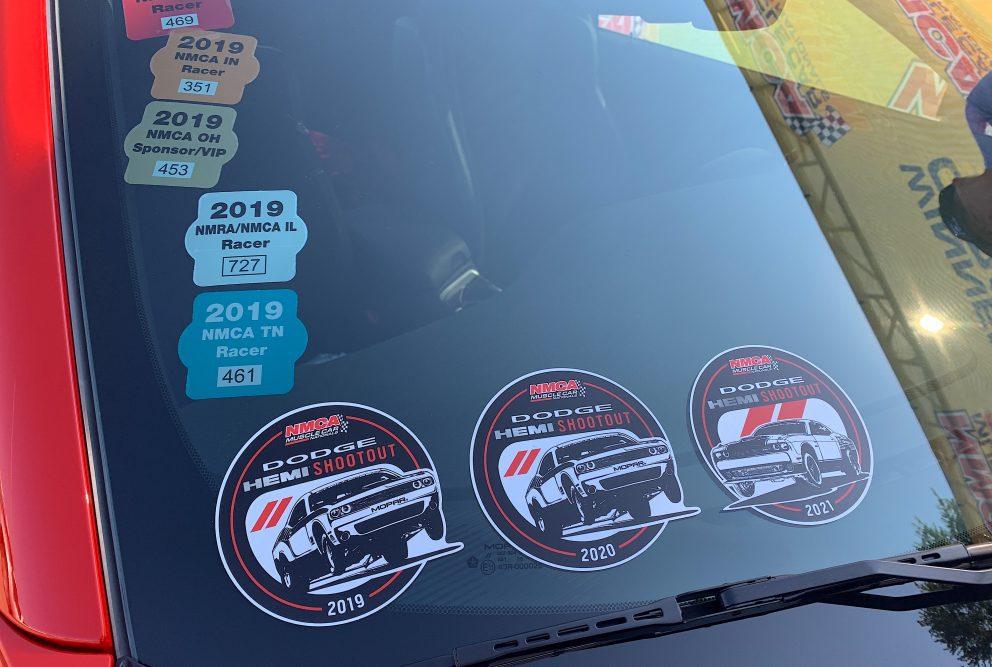 Dodge HEMI Shootout stickers