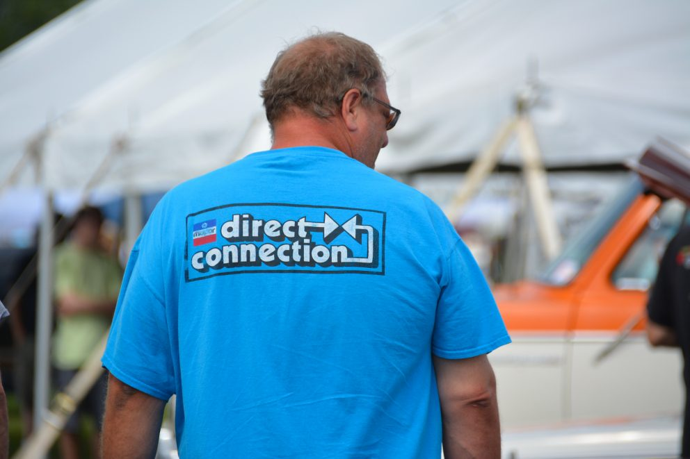 Spectator wearing a Direct Connection t-shirt
