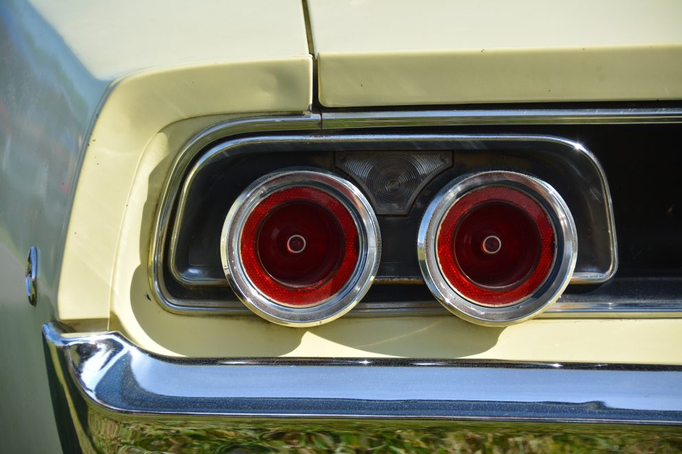Tail lights of a vehicle