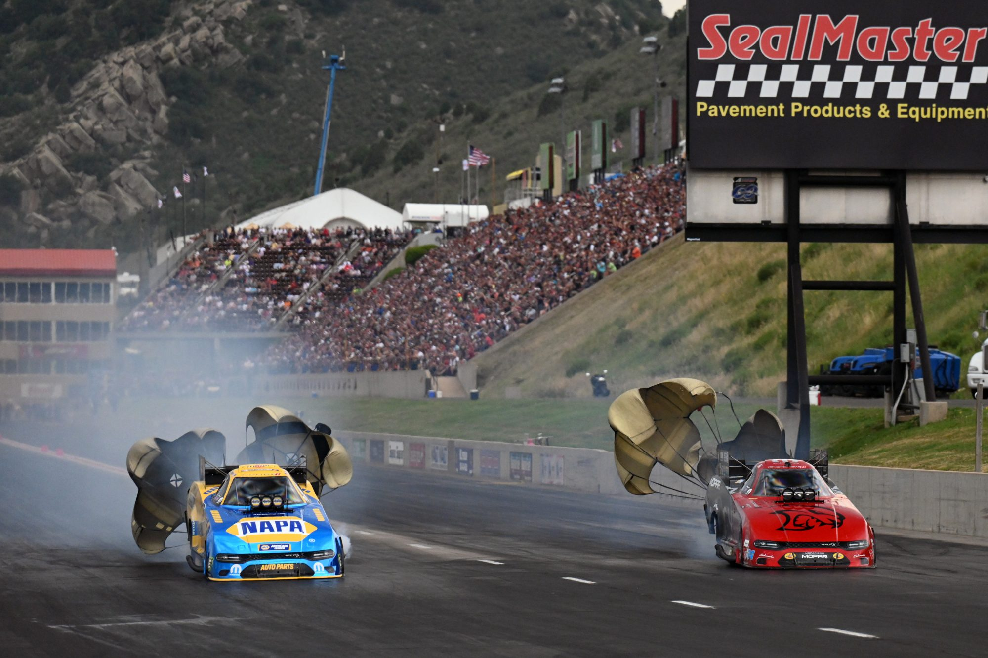 Matt Hagan & Ron Capps drag racing