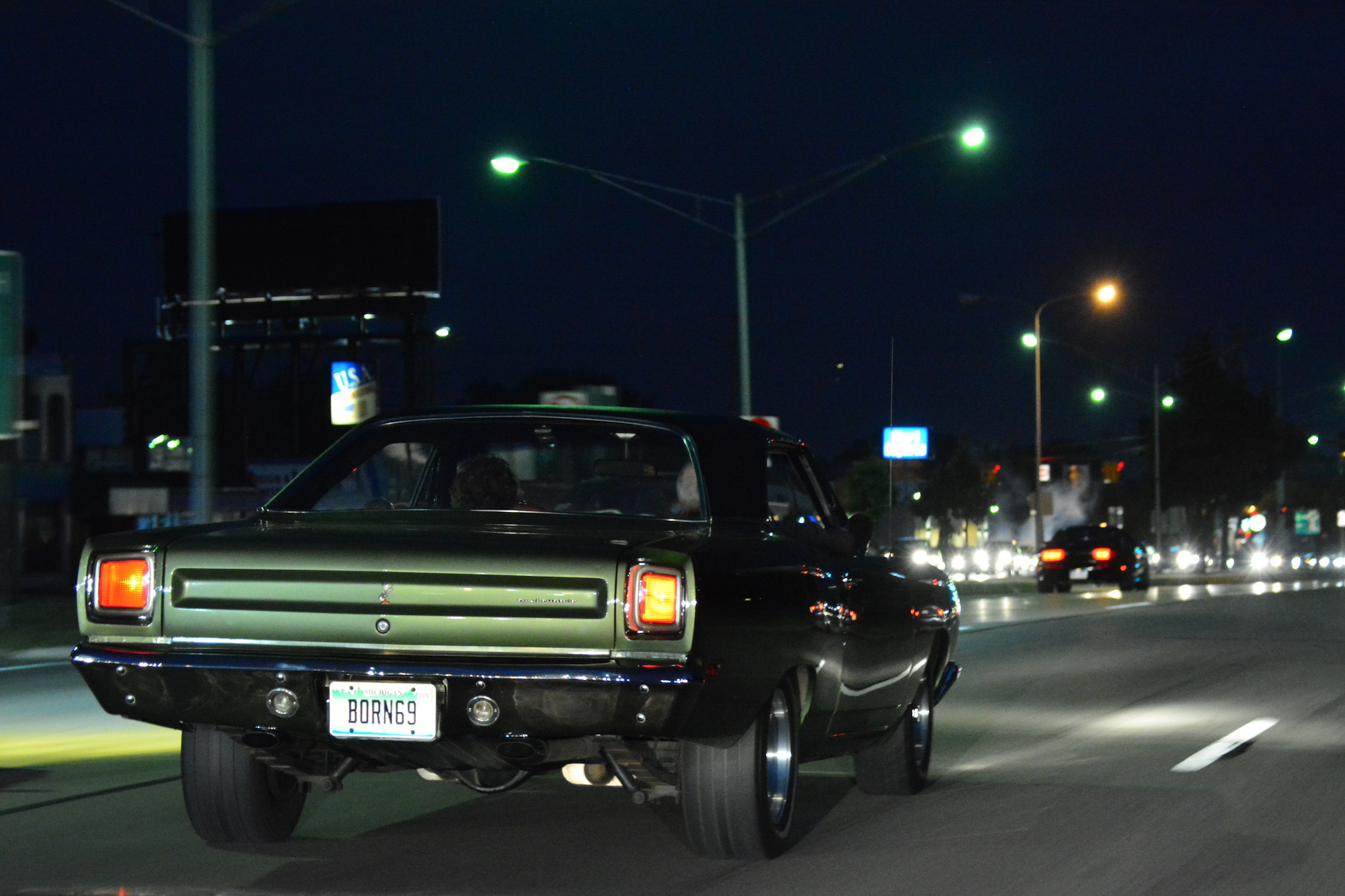 Roadrunner drag racing at Roadkill Nights Powered by Dodge