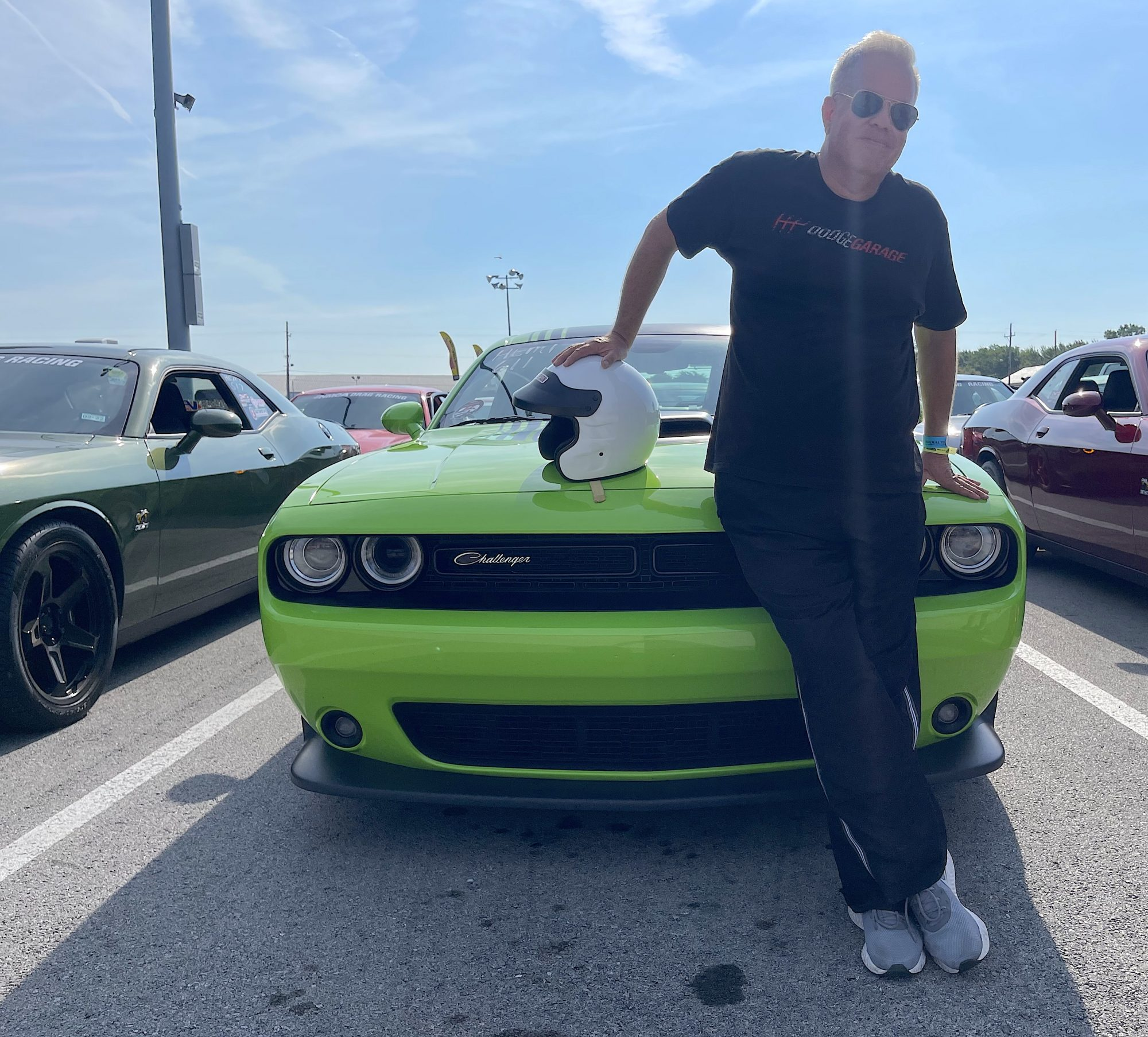Man standing in front of his Challenger