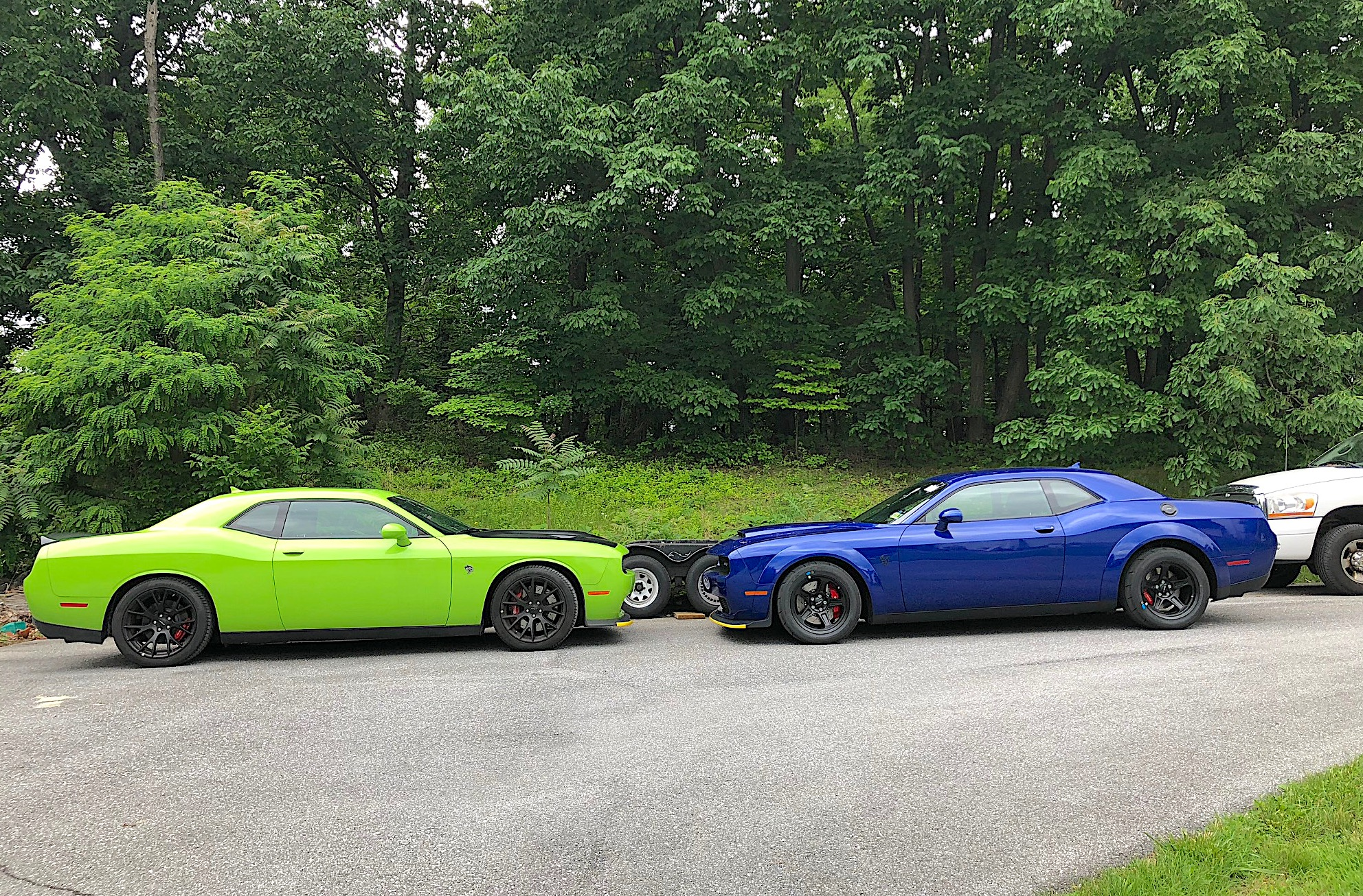 Two Challengers at Roadkill Nights Powered by Dodge