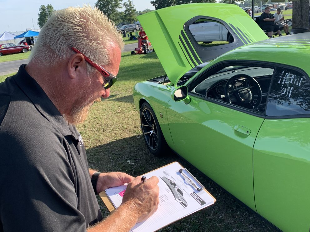 Tech inspection prior to a drag race