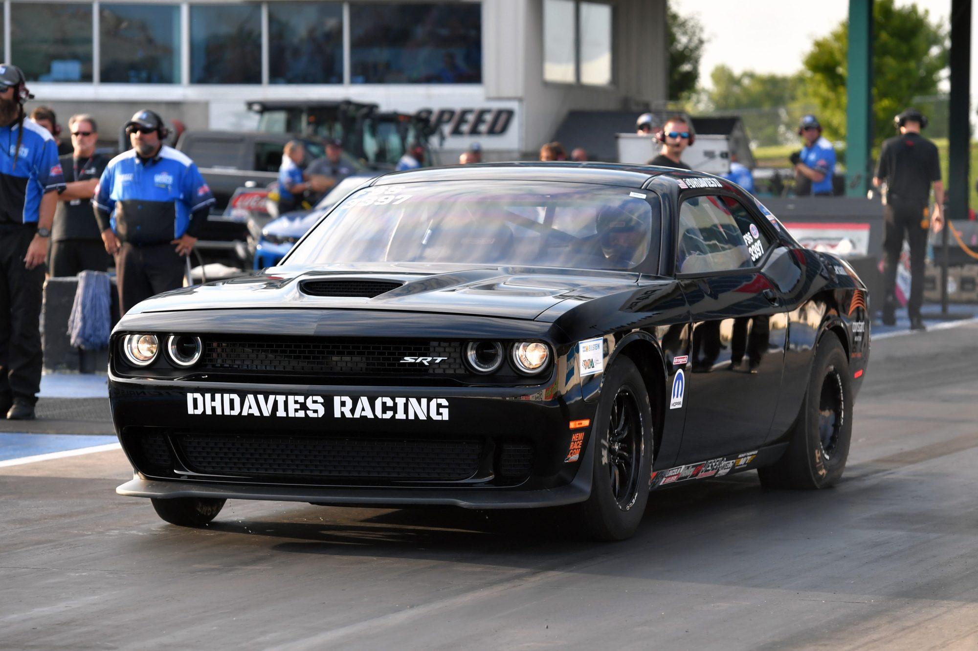 Dave Davies drag racing