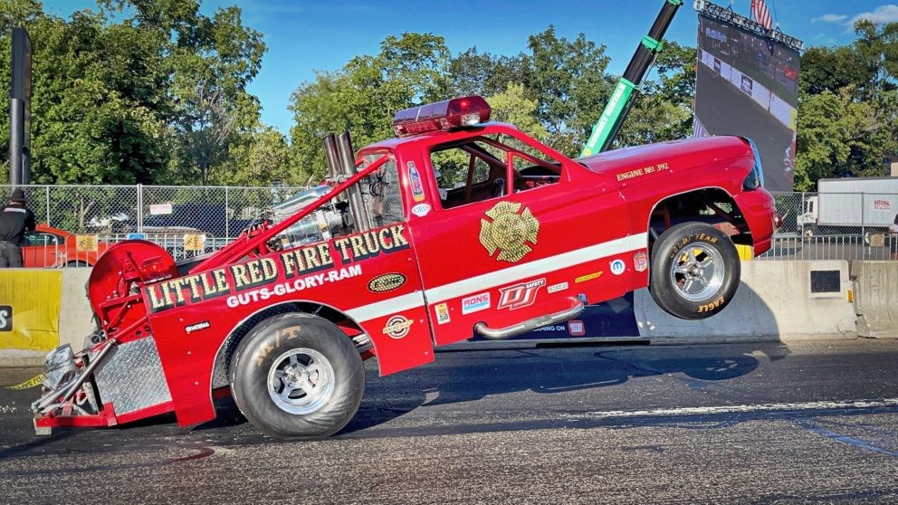 Fire truck racing at Roadkill Nights Powered by Dodge
