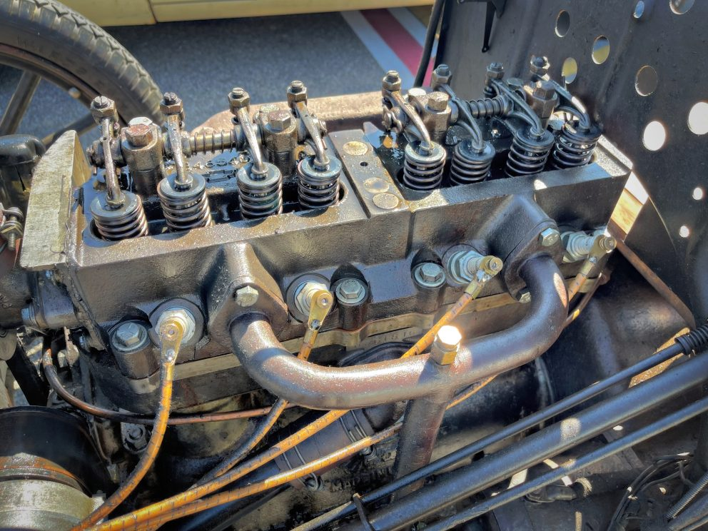 Mopar engine on display at Roadkill Nights Powered by Dodge