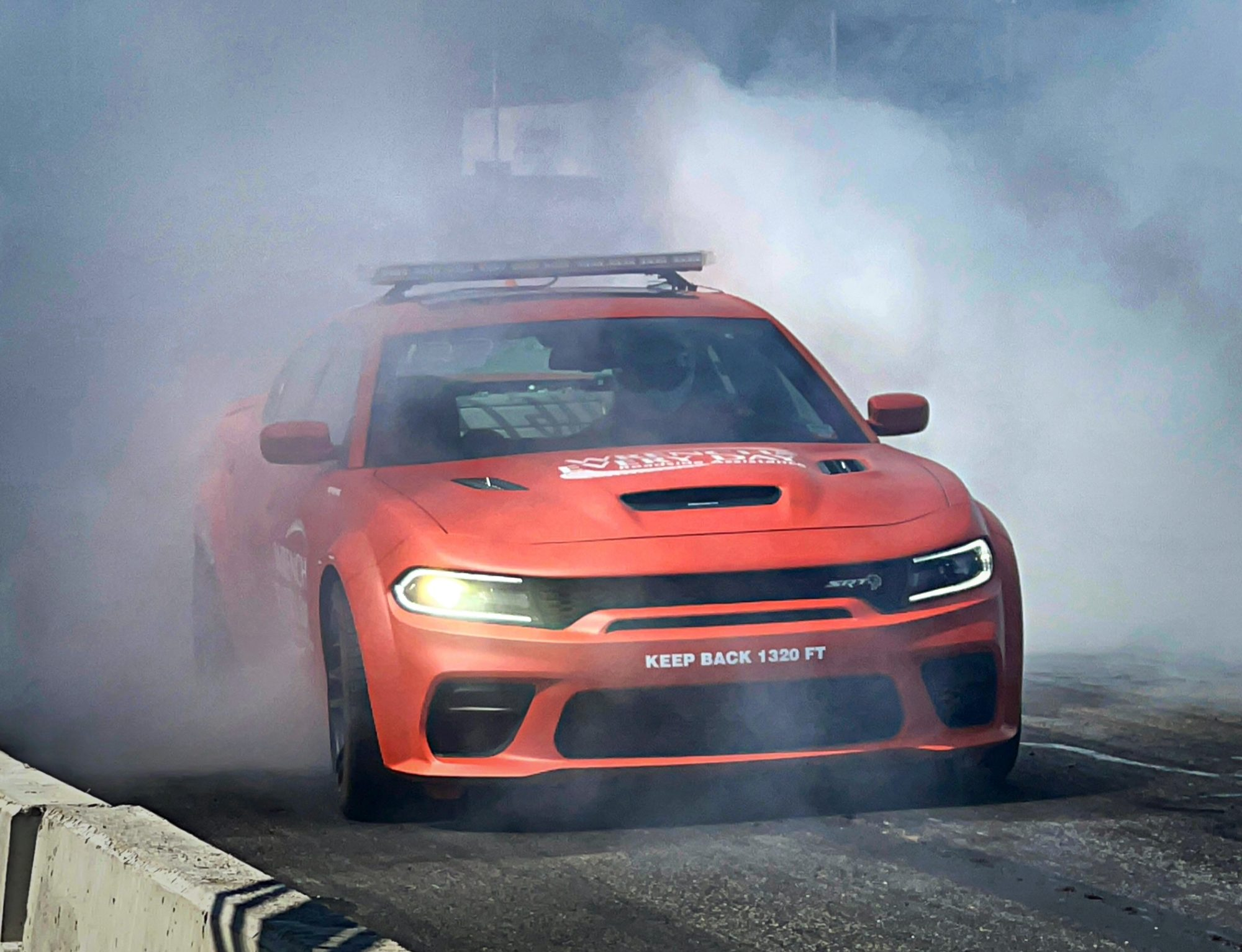 Dodge Charger doing a burnout