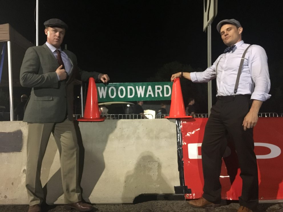 The Dodge Brothers with a Woodward sign