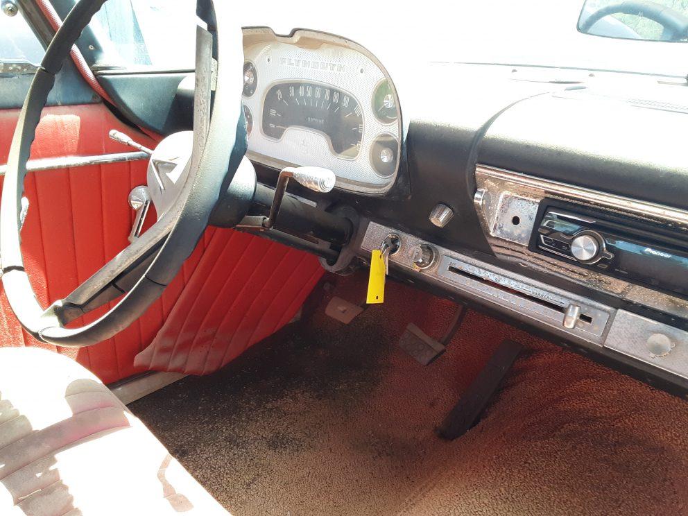 1957 Plymouth Plaza HEMI Swap interior