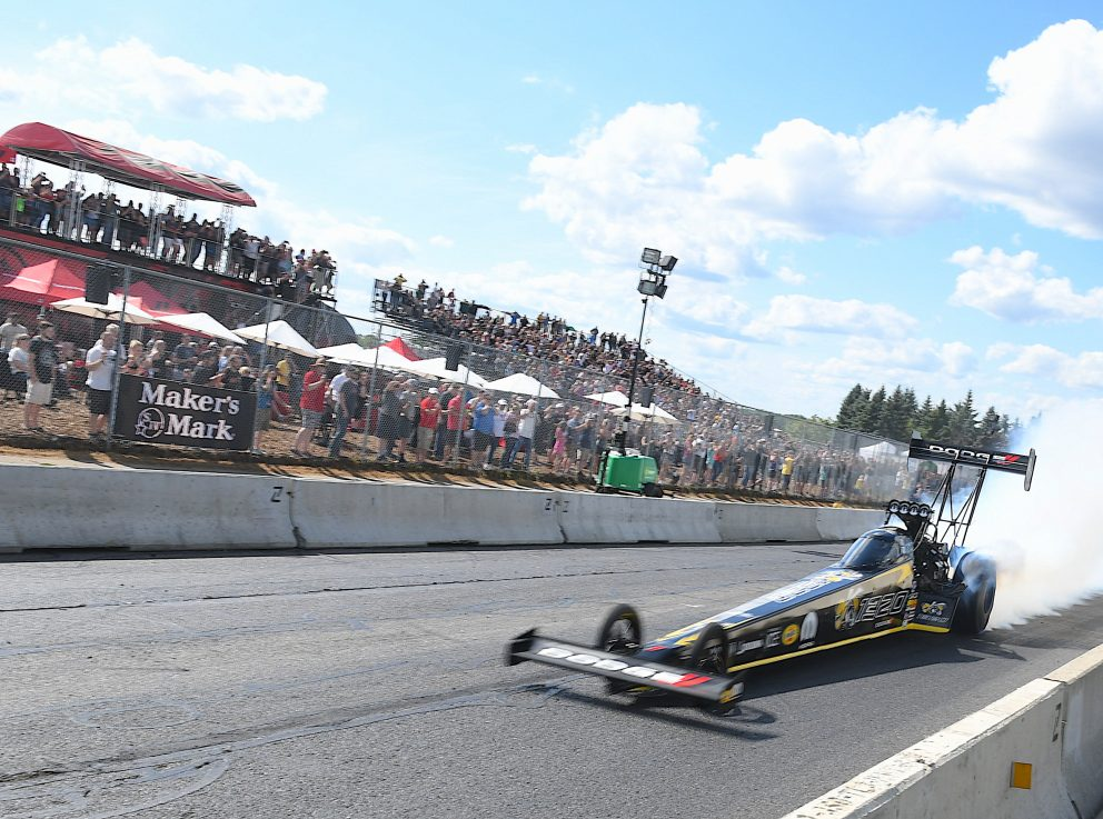 Top Fuel Dragster on a drag strip