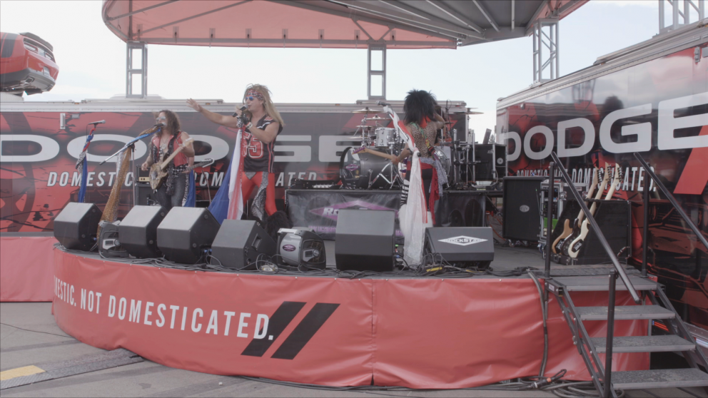 Band performing on stage