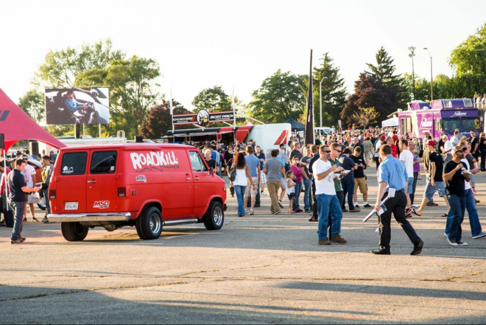 crowd at Roadkill Nights Powered by Dodge