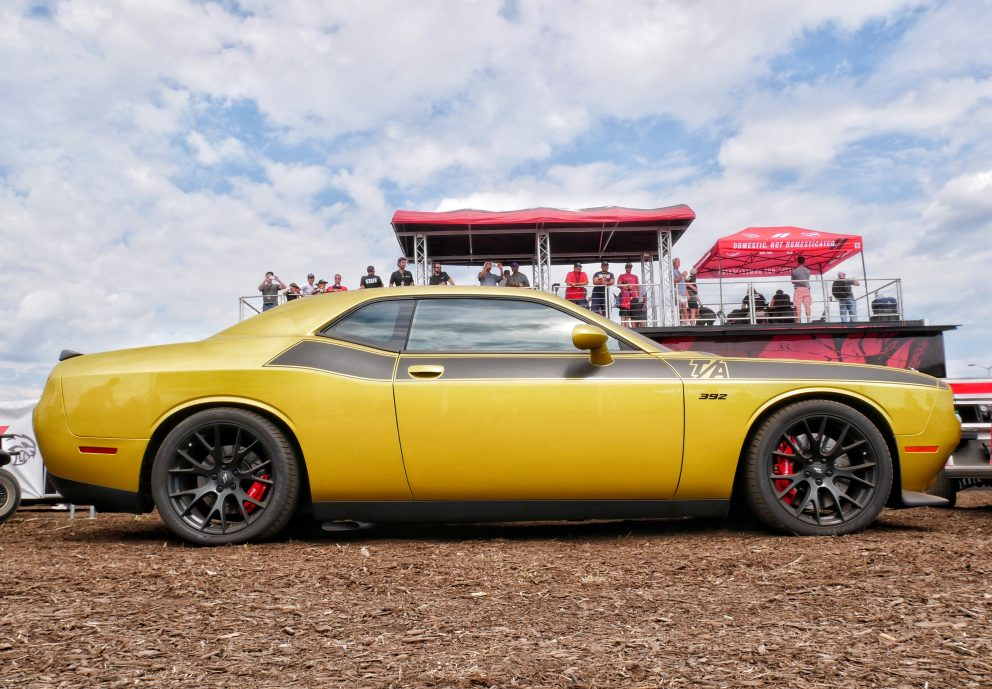 Challenger on display at Roadkill Nights Powered by Dodge