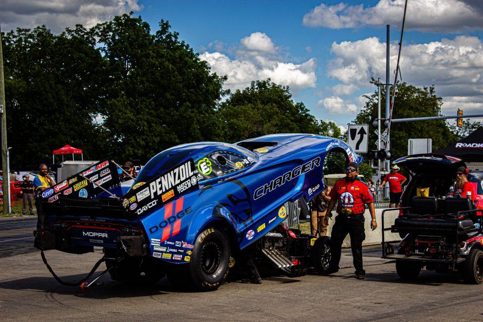 Matt Hagan's funny car at Roadkill Nights Powered by Dodge