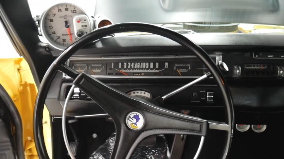 1969 Plymouth Road Runner Restomod steering wheel