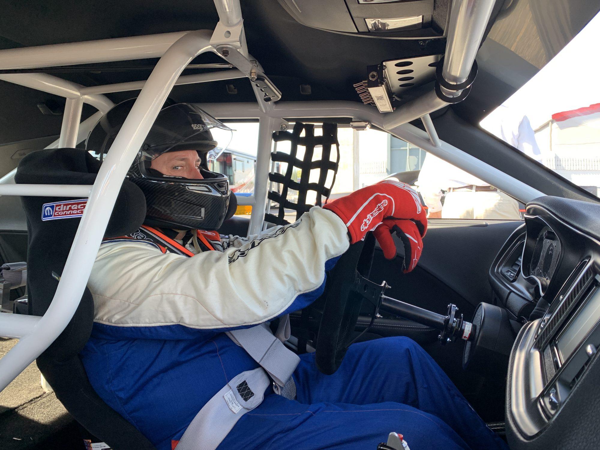 Dennis Chaisson driving his Drag Pak
