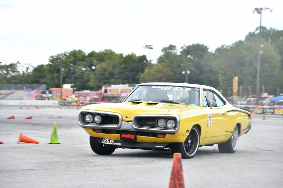 Car doing autocross at MoParty