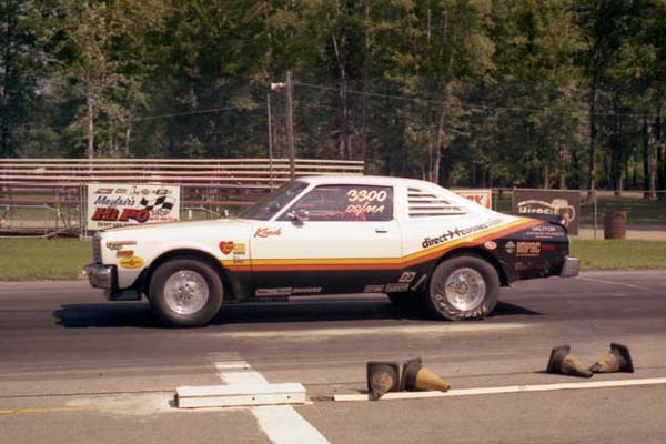 Vintage race car drag racing
