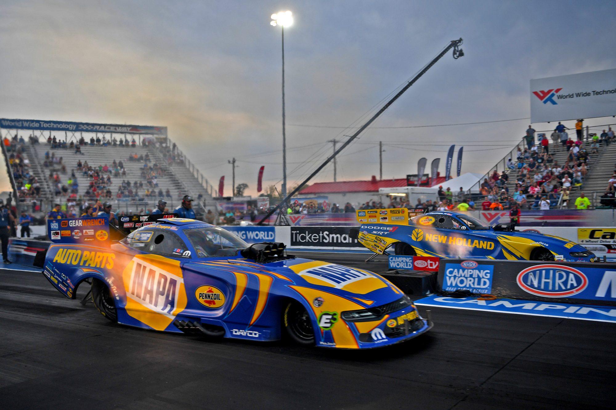 Ron Capps & Matt Hagan drag racing