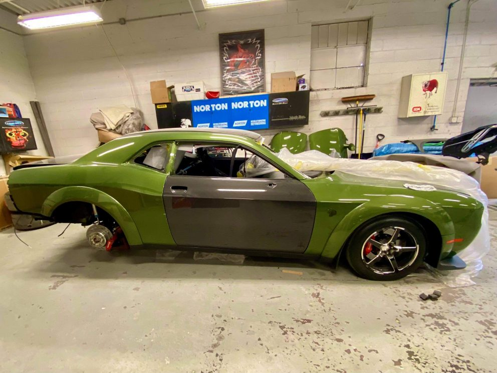 Challenger being worked on