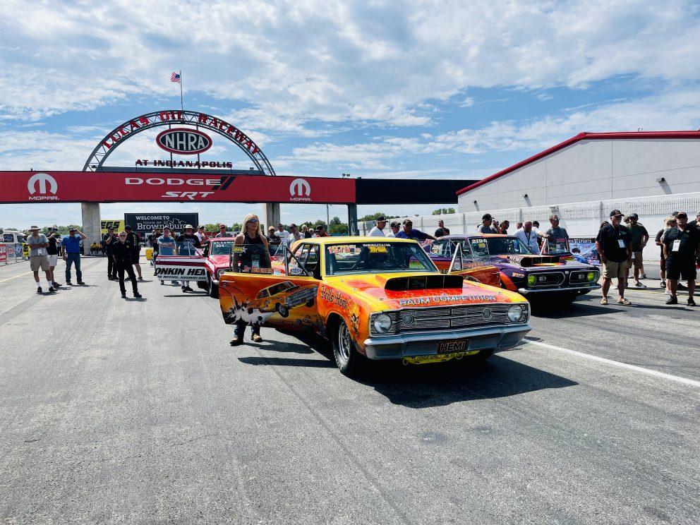 Dodge vehicle drag racing
